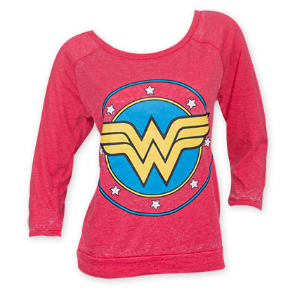 Wonder Woman Women's Red Burnout Shirt
