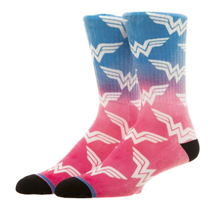 Wonder Woman Pink Ombre Crew Socks