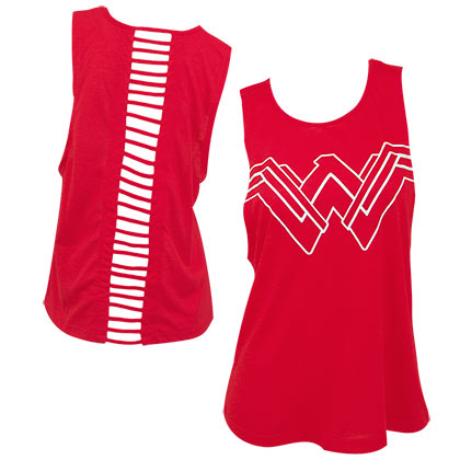 Wonder Woman Women's Red Open Back Tank Top