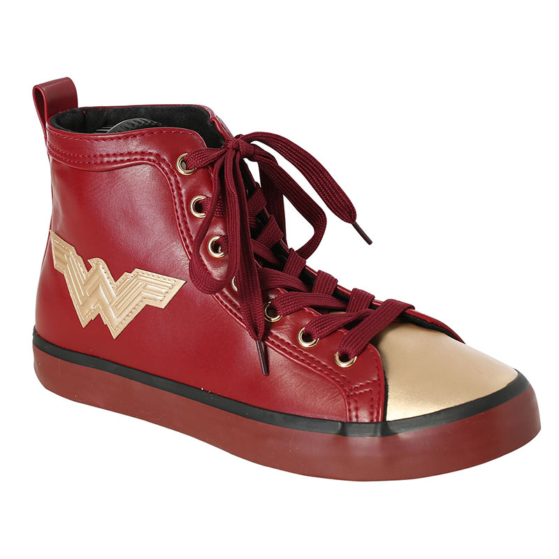 Wonder Woman Red PU High Top Shoes