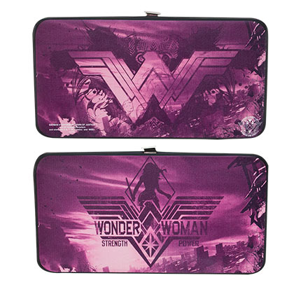 Wonder Woman Purple Hinged Wallet