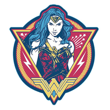 Wonder Woman Comic Decal