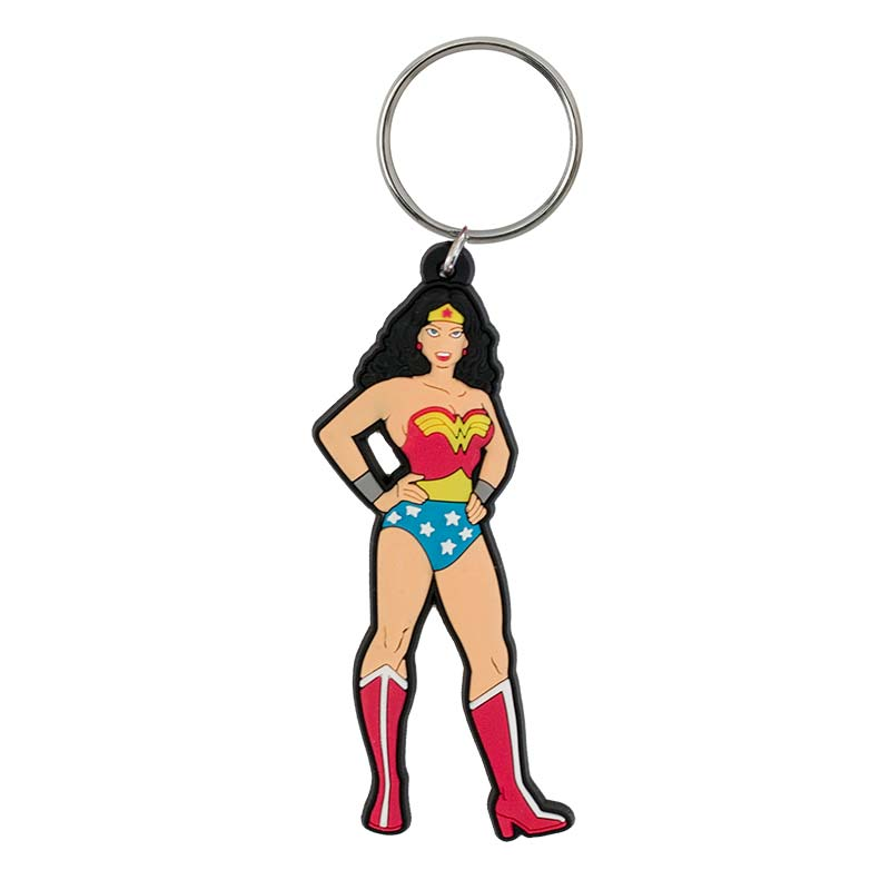 Wonder Woman Comic Character Rubber Keychain