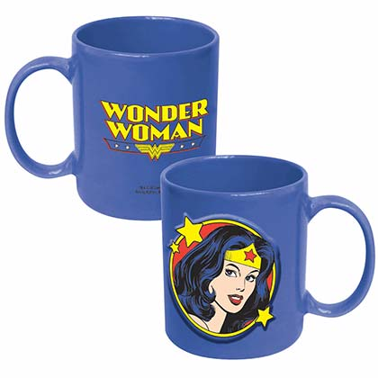 DC Wonder Woman Blue Embossed Mug