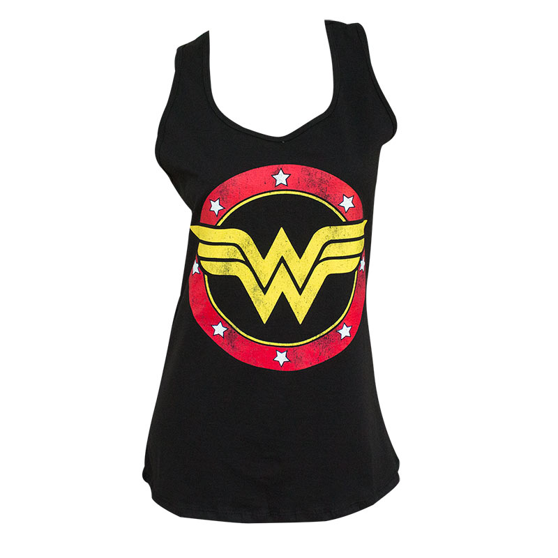 Wonder Woman Ladies Black Racerback Tank Top