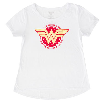 Wonder Woman White Circle Logo Youth Girls T-Shirt