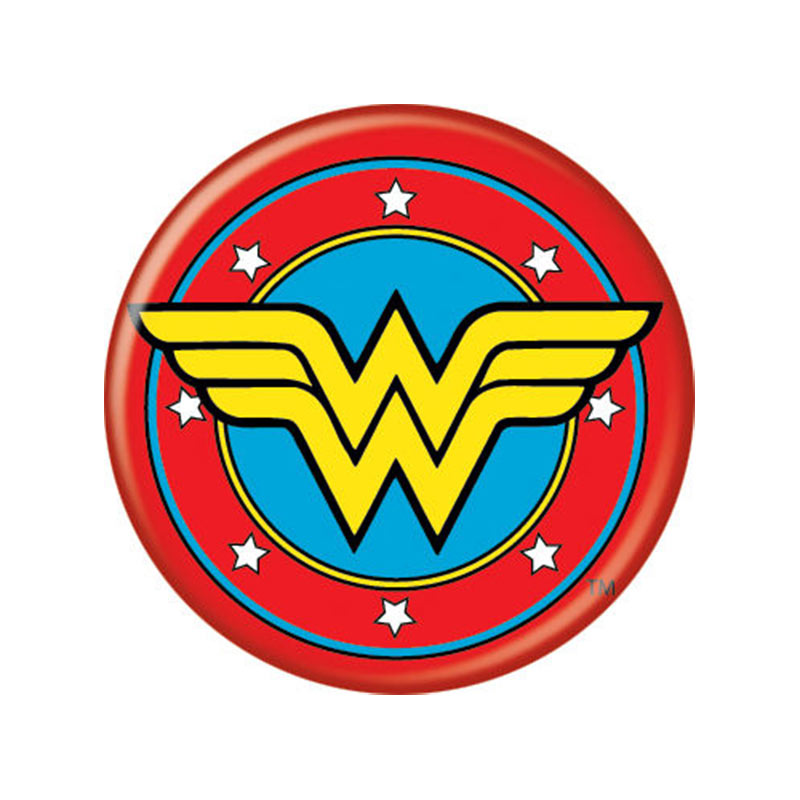 wonder woman logo button superherodencom