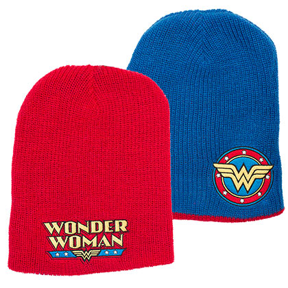 Wonder Woman Reversible Winter Beanie