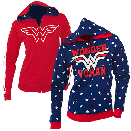 Wonder Woman Juniors Reversible Hoodie