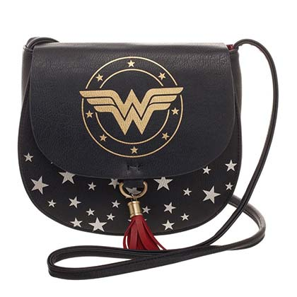 Wonder Woman Saddle Bag Black Women's Purse