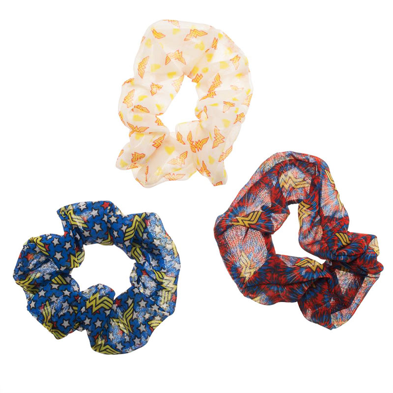 Wonder Woman 3 Pack Hair Scrunchies