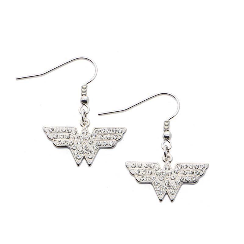 wonder woman stainless steel dangle earrings. Black Bedroom Furniture Sets. Home Design Ideas