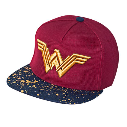 Wonder Woman Burgundy Metallic Logo Snapback Hat