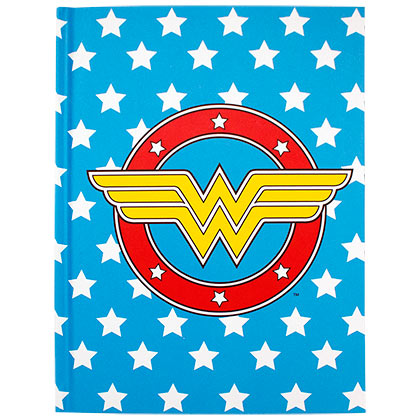Wonder Woman Blue Stars Notebook Journal