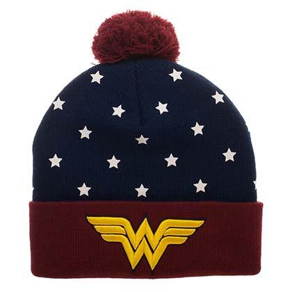 Wonder Woman Cuff Winter Pom Beanie
