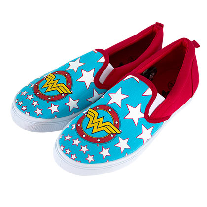Wonder Woman Canvas Slip On Shoes