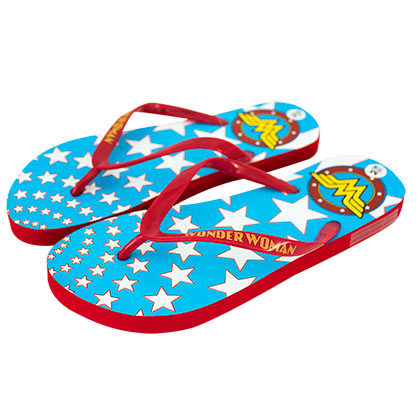Wonder Woman Comic Star Print Sandals