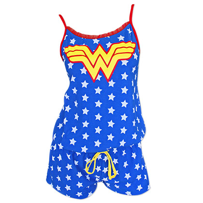 Wonder Woman Blue Women's Star Print Romper
