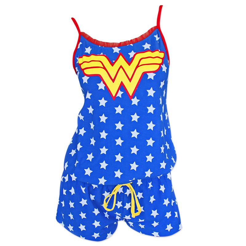 Wonder Woman Blue Women's Star Print Romper
