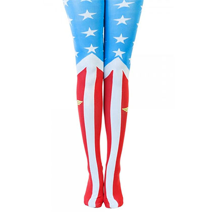 Wonder Woman Patriotic Women's Costume Tights