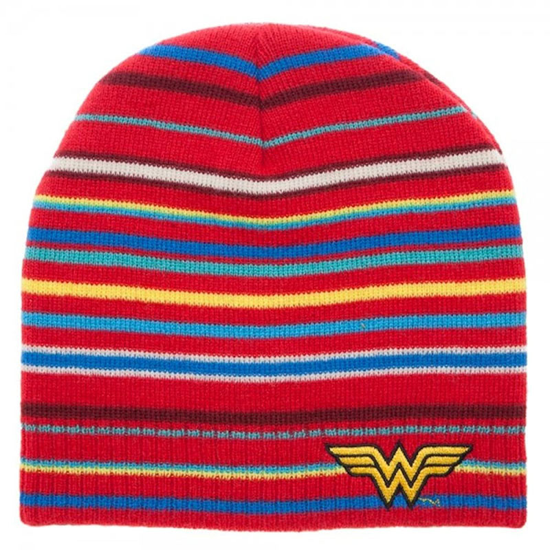 Wonder Woman Striped Beanie