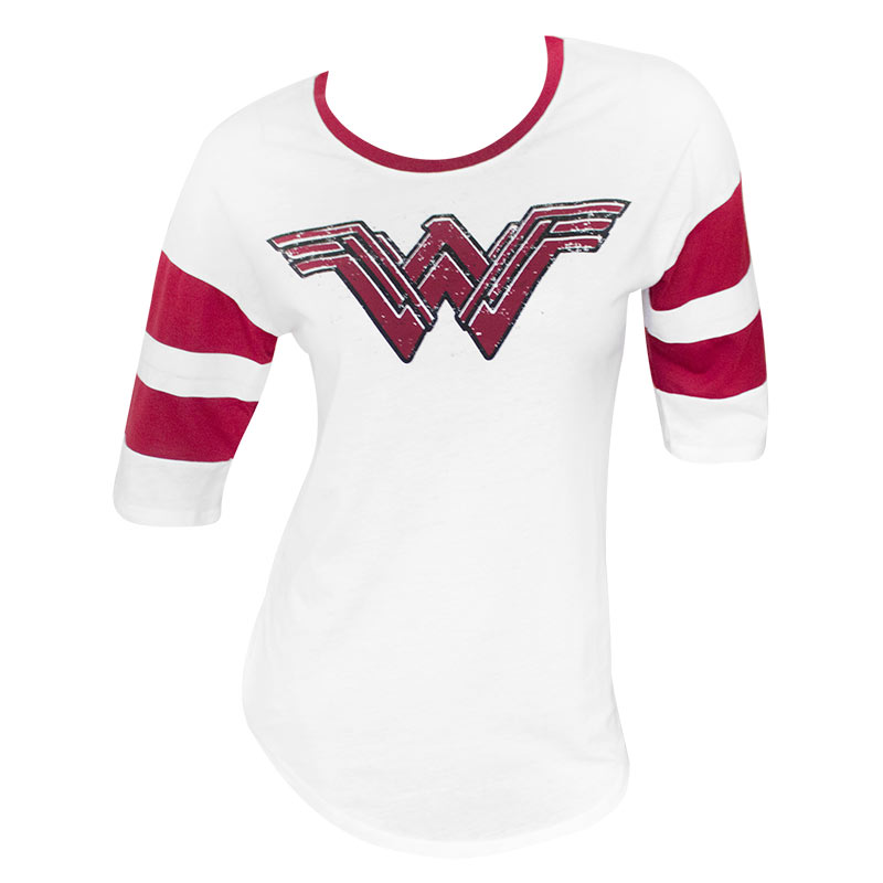 Wonder Woman Ladies White Strength Love Grace Raglan Sleeve T-Shirt