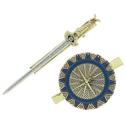 Wonder Woman Sword Shield Hair Clips