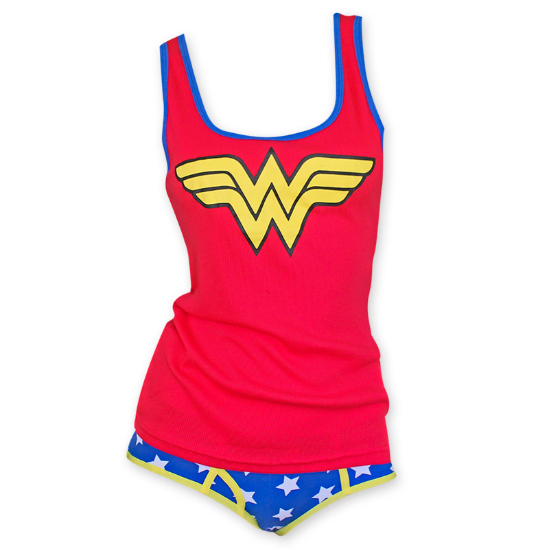 f2e8395514 Wonder Woman Red And Blue Cami Panty Set