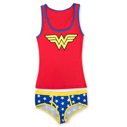 Wonder Woman Red And Blue Cami/Panty Set
