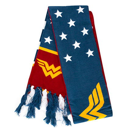 Wonder Woman Blue And Red Scarf