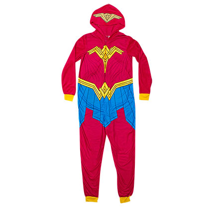 Wonder Woman Red Pajama Union Suit Costume