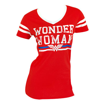 Wonder Woman Red Varsity Women's T-Shirt