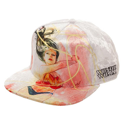 Wonder Woman Velvet Snapback Hat