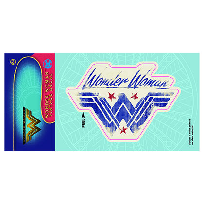 Wonder Woman Vintage Car Window Decal