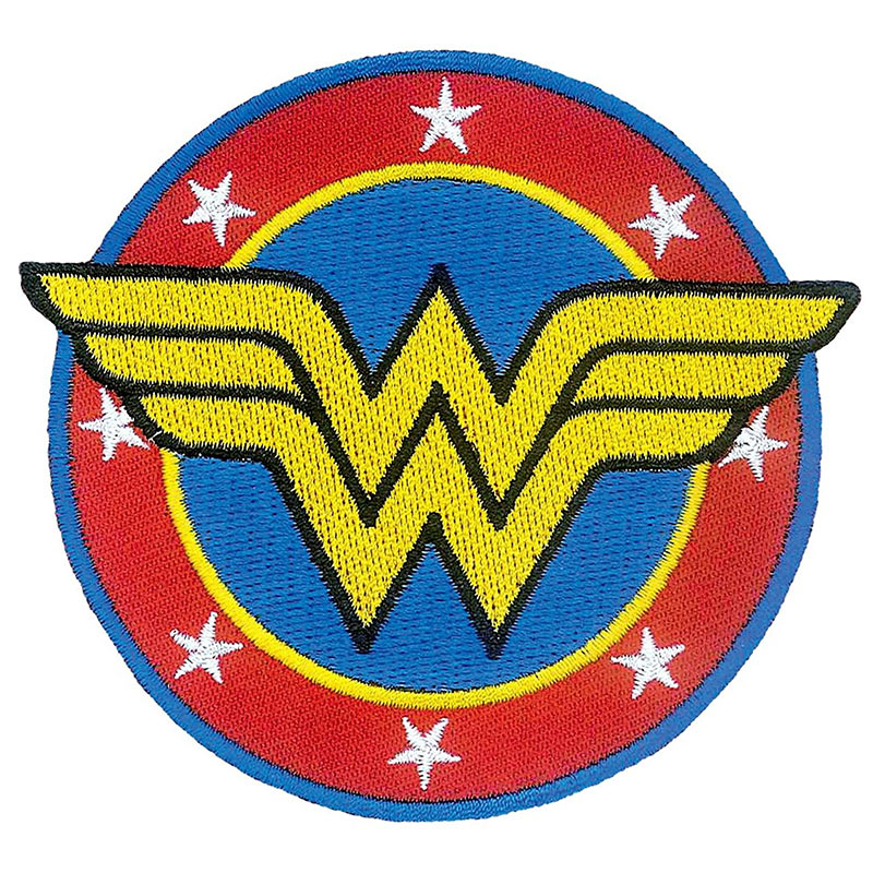 Wonder Woman Comic Logo Iron On Patch Superheroden