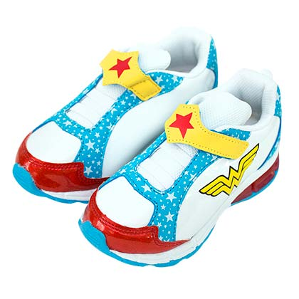 Wonder Woman White Youth Girls Sneakers