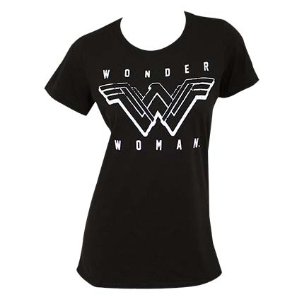 Wonder Woman Women's Black T-Shirt