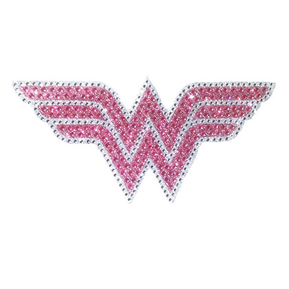 Wonder Woman Pink Rhinestone Comic Car Window Decal