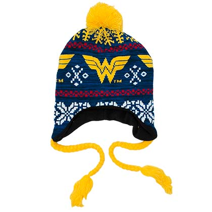 Wonder Woman Winter Laplander Hat