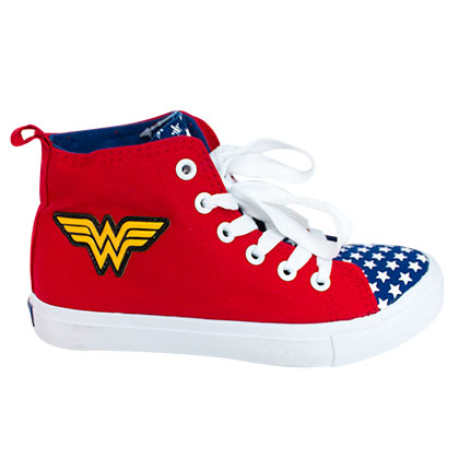 Wonder Woman Superhero Youth Sneakers