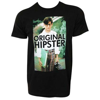 Wonder Years Original Hipster Men's Black Tee Shirt