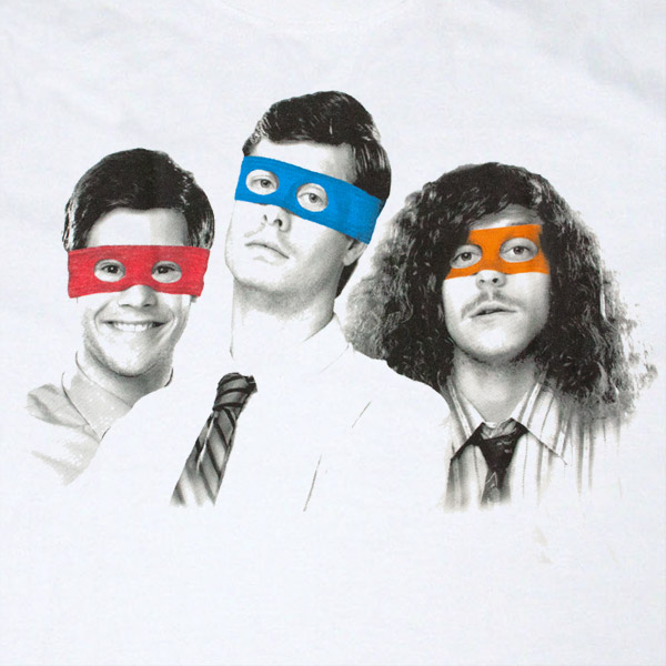 Workaholics Turtle Masks T shirt - White