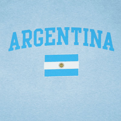 World Cup Soccer Argentina Light Blue Graphic T-Shirt