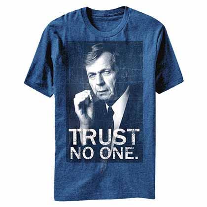 X-Files Smoking Man Blue T-Shirt