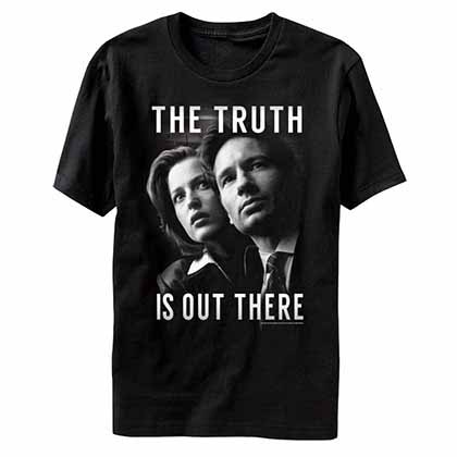 X-Files Mulder and Scully Black T-Shirt