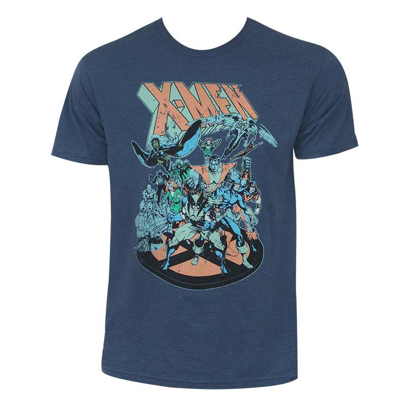 dc99dbd1 item was added to your cart. Item. Price. X-Men Men's Heather Blue Retro Comic  T-Shirt