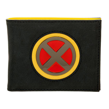X-Men Metal Logo Yellow Black Mens Wallet