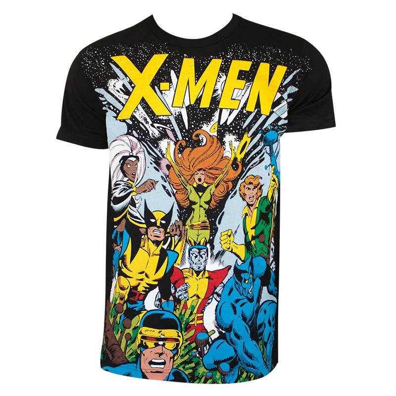 X-Men Men's Black Comic T-Shirt