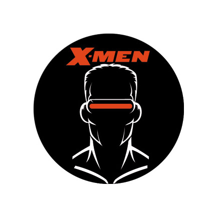 Xmen Cyclops Silhouette Button