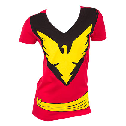 X-Men Women's Red Dark Phoenix Costume T-Shirt